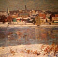 Across the Delaware painting by Robert Spencer at The Phillips Collection. Washington, DC.