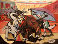 Bullfight painting by Pablo Picasso at The Phillips Collection. Washington, DC.