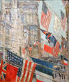 Allies Day, May 1917 painting by Childe Hassam at National Gallery of Art. Washington, DC.