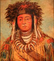 Boy Chief-Ojibwa portrait by George Catlin at National Gallery of Art. Washington, DC.