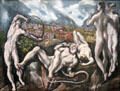 Laocoön painting by El Greco at National Gallery of Art. Washington, DC.