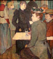 Corner of the Moulin de la Galette painting by Henri de Toulouse-Lautrec at National Gallery of Art. Washington, DC.