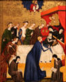 Death of Saint Clare painting by Master of Heiligenkreuz of Austria at National Gallery of Art. Washington, DC.