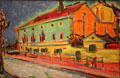 Houses in Dresden painting by Ernst Ludwig Kirchner at National Gallery of Art. Washington, DC.