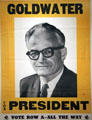 Barry Goldwater poster at National Portrait Gallery. Washington, DC.