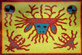 Wixarika yarn painting from Durango, Mexico at National Museum of the American Indian. Washington, DC.