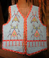 Lakota male beaded vest at National Museum of the American Indian. Washington, DC.