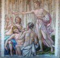 Detail of mosaic by Allyn Cox in bath house loggia at Dumbarton Oaks. Washington, DC.