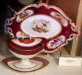 Porcelain dinner service by Coalport, England at Tudor Place. Washington, DC.