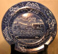 Plate commemorating landing of Lafayette at Castle Clinton New York on Aug. 16, 1821 at Anderson House Museum. Washington, DC.