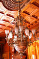 Dining room nickel-plated bronze chandelier from Austria at Christian Heurich Mansion. Washington, DC.