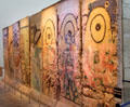 Graffiti covered section of demolished Berlin Wall at Newseum. Washington, DC.