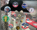 Presidential election campaign buttons at Newseum. Washington, DC.