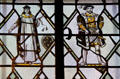Stained glass windows with Shakespearian themes at Folger Shakespeare Library. Washington, DC.