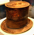 Abraham Lincoln's top hat which he wore to Ford's Theatre on April 14, 1865 at National Museum of American History. Washington, DC.