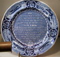 Erie Canal commemorative plate at National Museum of American History. Washington, DC.