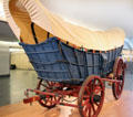 Conestoga Wagon had curved bottoms to keep goods from sliding off the ends at National Museum of American History. Washington, DC