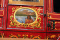 Door painting on Concord stage coach at National Postal Museum. Washington, DC.