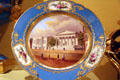 The Rush Porcelain plate showing U.S. Bank made by Rihouet of Paris at Smithsonian Castle. Washington, DC.