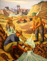 Placer Mining for Gold painting by Ernest Fiene at Interior Department. Washington, DC.