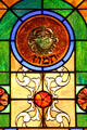 Cancer stained-glass Zodiac window in Jewish Museum of Florida. Miami Beach, FL.