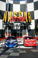 Stock cars at NASCAR Official Restaurant at Universal City Walk. Orlando, FL.