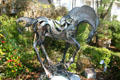 Running horse titled Energy in Copper by Roland Hockett in sculpture garden of Lemoyne Art Gallery. Tallahassee, FL.
