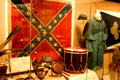 Confederate battle flag & soldier's personal items at Atlanta Historical Museum. Atlanta, GA.