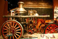 American La-France horse-drawn, steam fire engine in Atlanta History wing of Atlanta Historical Museum. Atlanta, GA.