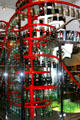 Sculpture in Coca-Cola Museum meant to capture spirit of bottling plant. Atlanta, GA.