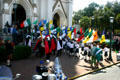 St. Patrick's Day procession at Cathedral of St. John the Baptist. Savannah, GA.