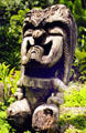 Totem at Waimea Valley Adventure Park. Oahu, HI.
