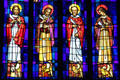 The four Evangelists on St. Andrew's Cathedral's Great West Window. Honolulu, HI.