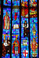 Anglican themes on St. Andrew's Cathedral's Great West Window. Honolulu, HI.