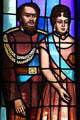 Kamehameha IV & Queen Emma on St. Andrew's Cathedral's Great West Window. Honolulu, HI.