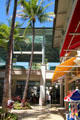 Palms & canopies at Aloha Tower Marketplace. Honolulu, HI.