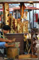 Wood carver shop at International Market Place. Waikiki, HI.