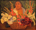 Flower Seller painting by Diego Rivera at Honolulu Academy of Arts. Honolulu, HI.