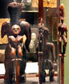 Hawaiian wooden guardian spirits at Bishop Museum. Honolulu, HI.