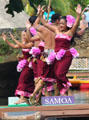 Samoan dancers in Rainbows of Paradise show at Polynesian Cultural Center. Laie, HI.