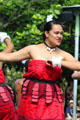 Tongan dancer in Rainbows of Paradise show at Polynesian Cultural Center. Laie, HI.