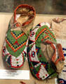 Sioux beaded moccasins at Union Pacific Railroad Museum. Council Bluffs, IA.