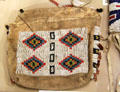 Sioux beaded medicine bag at Union Pacific Railroad Museum. Council Bluffs, IA.