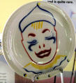 UP Circus pattern plate with clown for children at Union Pacific Railroad Museum. Council Bluffs, IA.