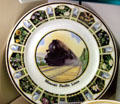 Missouri Pacific official flowers China plate at Union Pacific Railroad Museum. Council Bluffs, IA.
