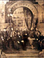 Graphic of Abraham Lincoln with Civil War Generals at Union Pacific Railroad Museum. Council Bluffs, IA.