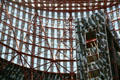 Internal structural beams of James R. Thompson Center. Chicago, IL.