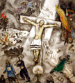 White Crucifixion painting by Marc Chagall at Art Institute of Chicago. Chicago, IL.