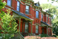 Victorian row houses in Pullman Village along Florence Blvd. Chicago, IL.