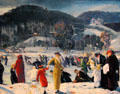 Love of Winter painting by George Wesley Bellows at Art Institute of Chicago. Chicago, IL.